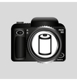 digital photo camera negative roll vector image