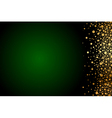 green and gold luxury background vector image