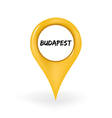 Location Budapest vector image