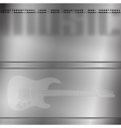 musical background with engraved guitar vector image