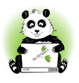 panda with laptop vector image