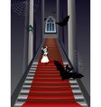 Fashion Zombie Girl on Stairs vector image