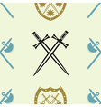 seamless background with knight heraldic symbol vector image