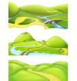 Nature landscape cartoon game backgrounds set vector image vector image