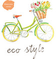 watercolor bike - vector image