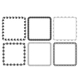 set of frames - squares vector image vector image