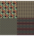 Set of four brown abstract retro color patterns vector image vector image