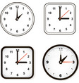 Set of wall clock Watch and circle vector image