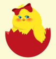 easter egg and chick vector image