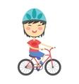 Girl on bike vector image