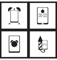 Concept flat icons in black and white smartphone vector image