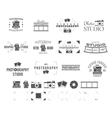 Photography logo templates set Use for photo vector image