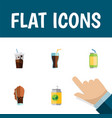 flat icon drink set of carbonated drink beverage vector image