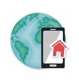 global smartphone web page communication vector image