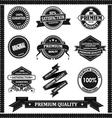 Original label with black vector image