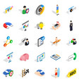 person icons set isometric style vector image