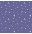 Simple butterflies Seamless pattern vector image