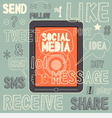 Social Media sign and symbol Hand drawn vector image