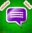 speech bubble Chat think icon sign Symbol chic vector image
