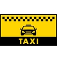 taxi background with place for text vector image