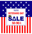 veterans day sale banner vector image