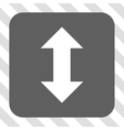 Vertical Exchange Arrows Rounded Square Button vector image