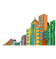 Cityscape sketch vector image vector image