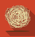 tumbleweed icon flate singe western icon from the vector image