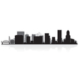 Portland USA city skyline silhouette vector image vector image