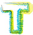Sketch font Letter T vector image vector image