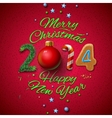Happy New Year 2014 Greeting Card vector image