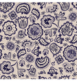 seamless abstract floral pattern vintage vector image