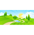 Green Landscape with Hills vector image