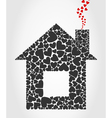 House of hearts vector image
