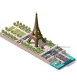 isometric map of the Champ de Mars in Paris vector image
