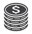 coins of dollar glyph icon business and finance vector image