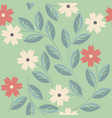 endless seamless pattern with decorative flowers vector image