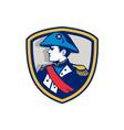Napoleon Bonaparte Bicorn Hat Crest Retro vector image
