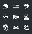 set of america symbols icons vector image