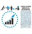 Startup Sales Icon with 1000 Medical Business vector image