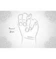 Element yoga Apan Vayu mudra hands with mehendi vector image