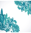 Vintage ethnic ornament background vector image vector image
