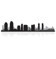 San Diego USA city skyline silhouette vector image