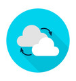 cloud computing flat circle icon vector image