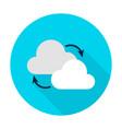 cloud computing flat circle icon vector image vector image