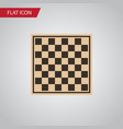 isolated checkerboard flat icon chess table vector image