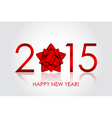 2015 Happy New Year background with red bow vector image vector image