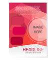 Red Brochure Design Template vector image