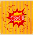 Cartoon blast COOL background old-fashioned vector image