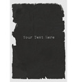 sheet of black torn paper vector image